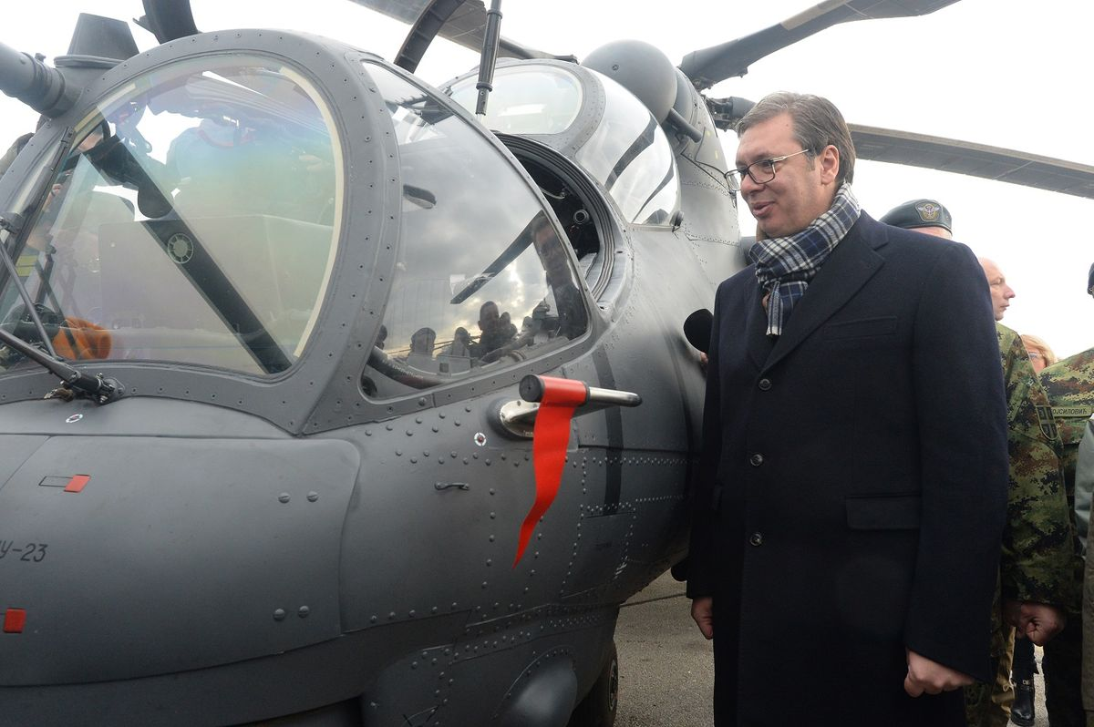 President Vučić attends the presentation of new helicopters of the Serbian Army