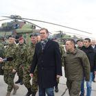 Predsednik Vučić prisustvovao prezentaciji novih helikoptera Vojske Srbije