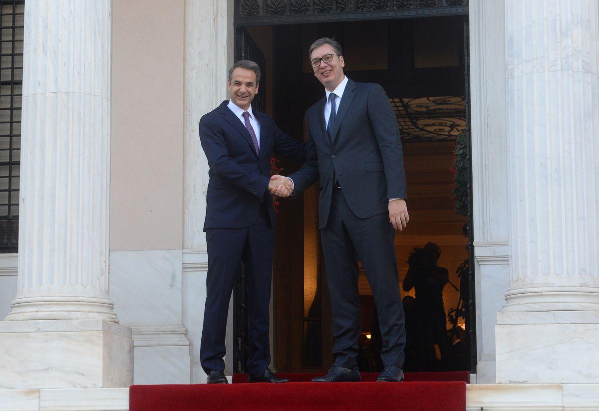 Председник Вучић и премијер Мицотакис састали су се у Грчкој другог дана званичне посете председника Репиублике Србије