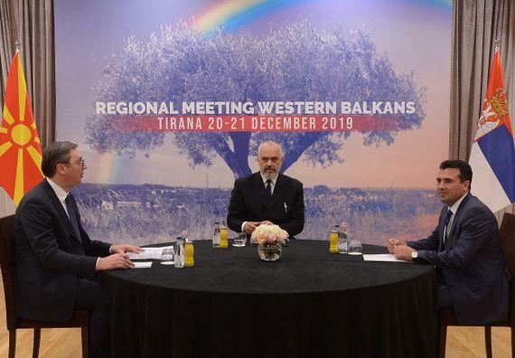 Председник Вучић на састанку лидера Западног Балкана у Тирани