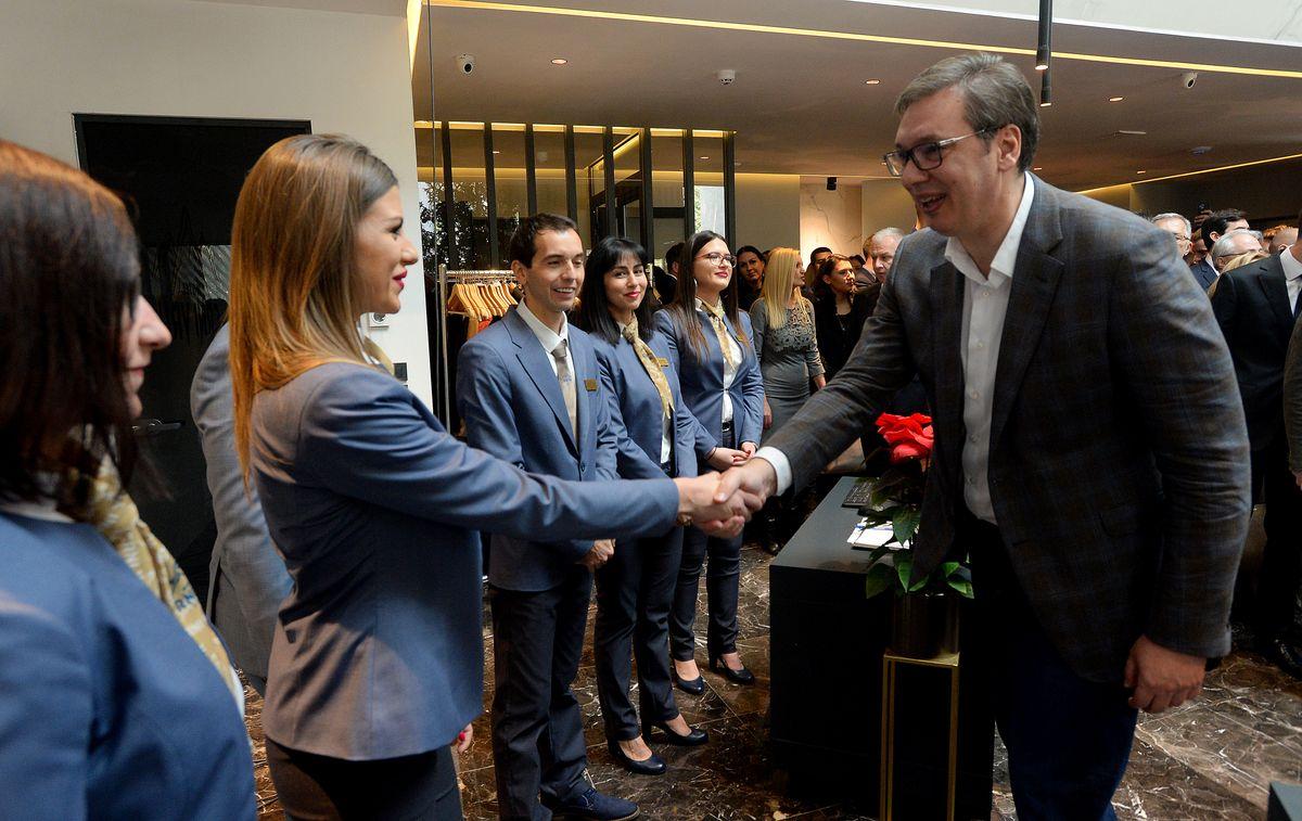 Председник Вучић на свечаном отварању новоизграђеног хотела