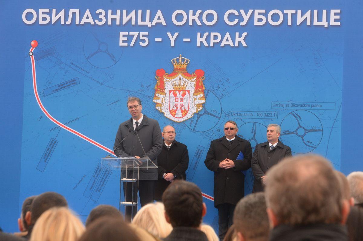Председник Вучић присуствовао свечаности поводом завршетка изградње Ипсилон крака