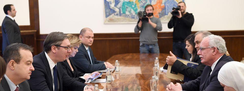 Састанак са министром иностраних послова и дијаспоре Палестине