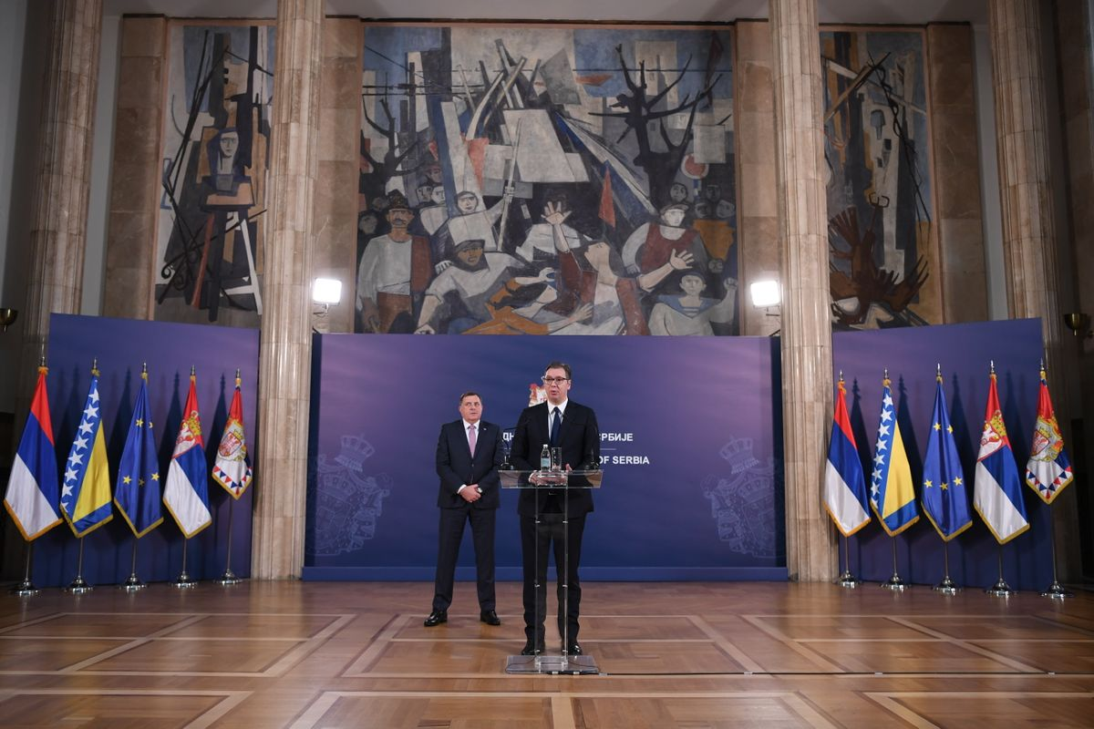 Председник Вучић састао се са српским чланом Председништва Босне и Херцеговине
