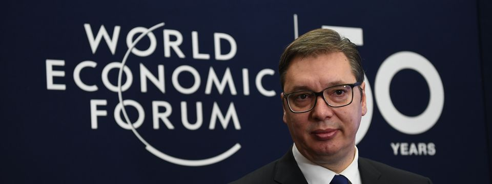 President Vučić at the annual meeting of the World Economic Forum in Davos