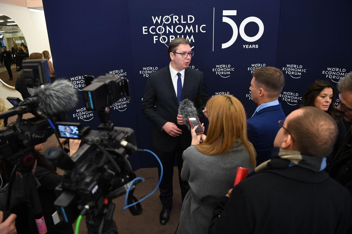 Predsednik Vučić na godišnjem sastanku Svetskog ekonomskog foruma u Davosu