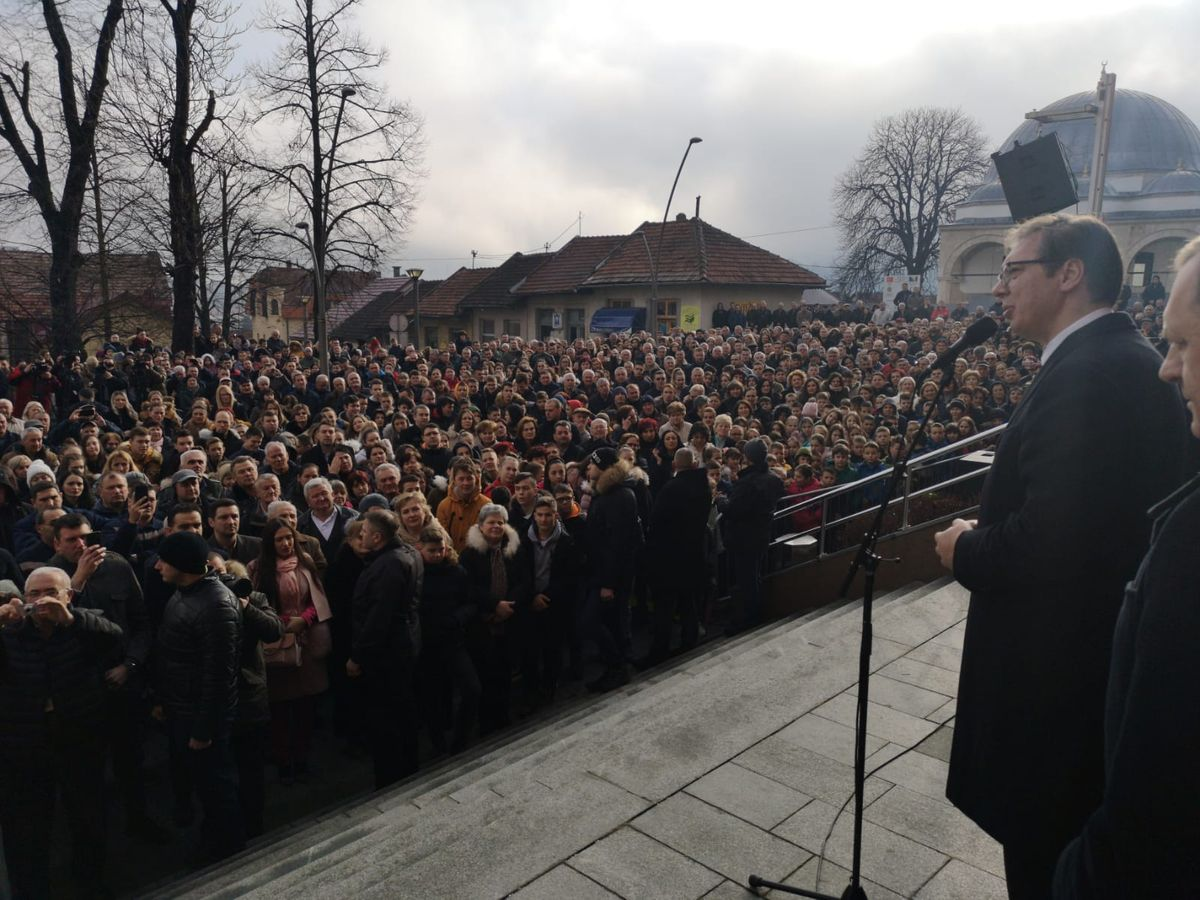 Predsednik Vučić u poseti Mrkonjić Gradu i Drvaru