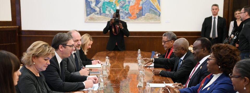 Састанак са председником Нaродне скупштине Републике Анголе