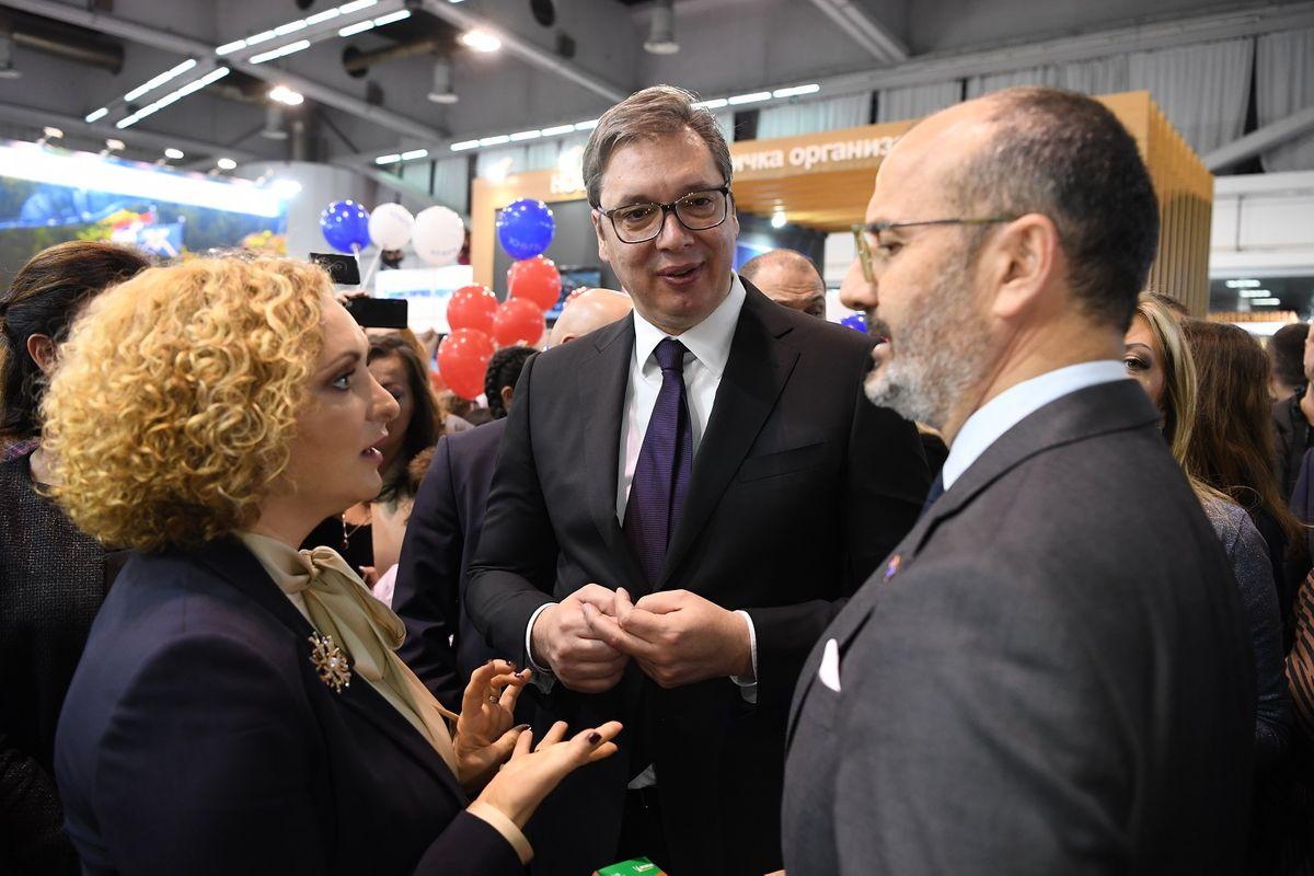 Predsednik Vučić prisustvovao 42. Međunarodnom beogradskom sajmu turizma