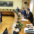 Видео конференцијa председника Александра Вучића и савезне канцеларке Ангеле Меркел