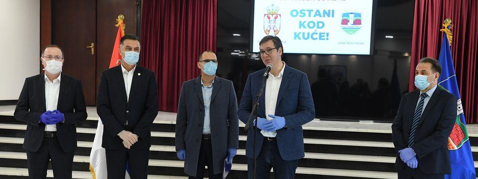 Председник Вучић посетио Нови Пазар