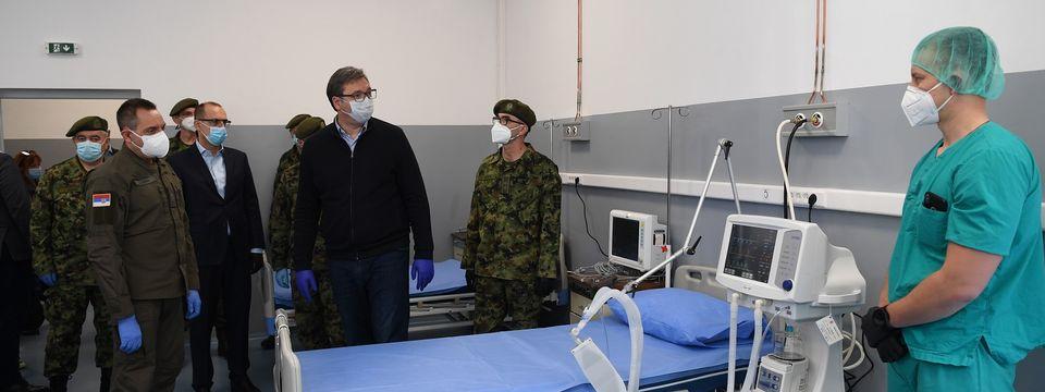 """Predsednik Vučić prisustvovao otvaranju nove bolnice u Vojnomedicinskom centru """"Karaburma"""""""