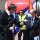 Председник Вучићприсуствовао отпремању медицинске опреме Републици Италији