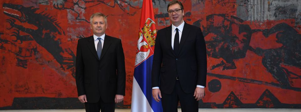 Predsednik Vučić primio akreditivna pisma novog ambasadora Slovačke Republike