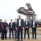 Председник Вучић обишао новоотворени површински откоп Радљево-Север