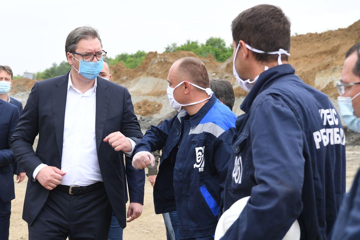 Predsednik Vučić obišao novootvoreni površinski otkop Radljevo-Sever