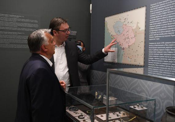 Председник Вучић са председником Владе Мађарске