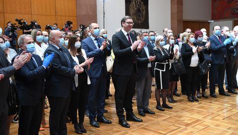 Председник Вучић приредио пријем за медицинске раднике из Ковид болница