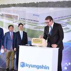 """Председник Вучић присуствовао церемонији постављања камена темељца будућег постројења компаније """"KyungshinCable"""""""
