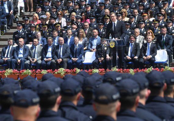 Председник Вучић присуствовао централној манифестацији поводом обележавања Дана МУП и Дана полиције