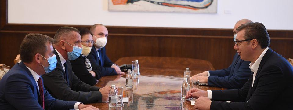 """Састанак са представницима изборне листе """"Албанска демократска алтернатива-Уједињена долина"""""""