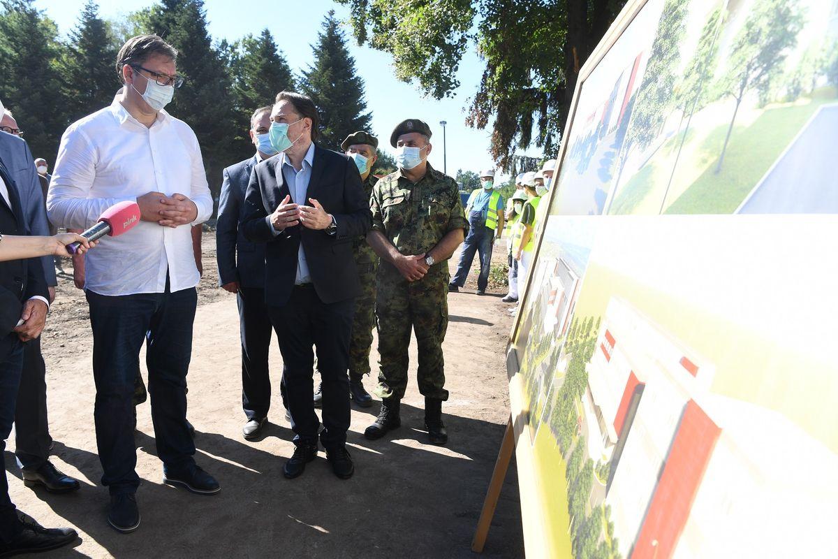 Predsednik Vučić prisustvovao početku izgradnje nove kovid bolnice