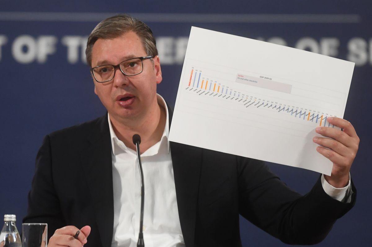 Konferencija za medije predsednika Republike Srbije Aleksandra Vučića