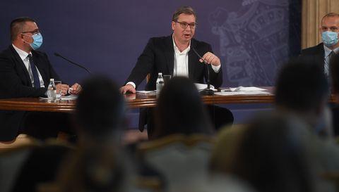 Конференција за медије председника Републике Србије Александра Вучића