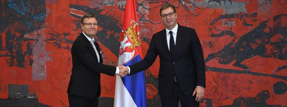 Председник Вучић примио акредитивна писма новоименованог амбасадора Републике Словеније