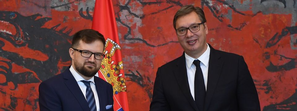 Председник Вучић примио акредитивна писма новоименованог амбасадора Републике Пољске