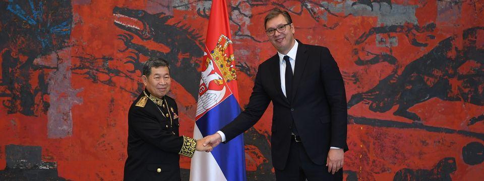 Председник Вучић примио акредитивна писма новоименованог амбасадора Краљевине Камбоџе