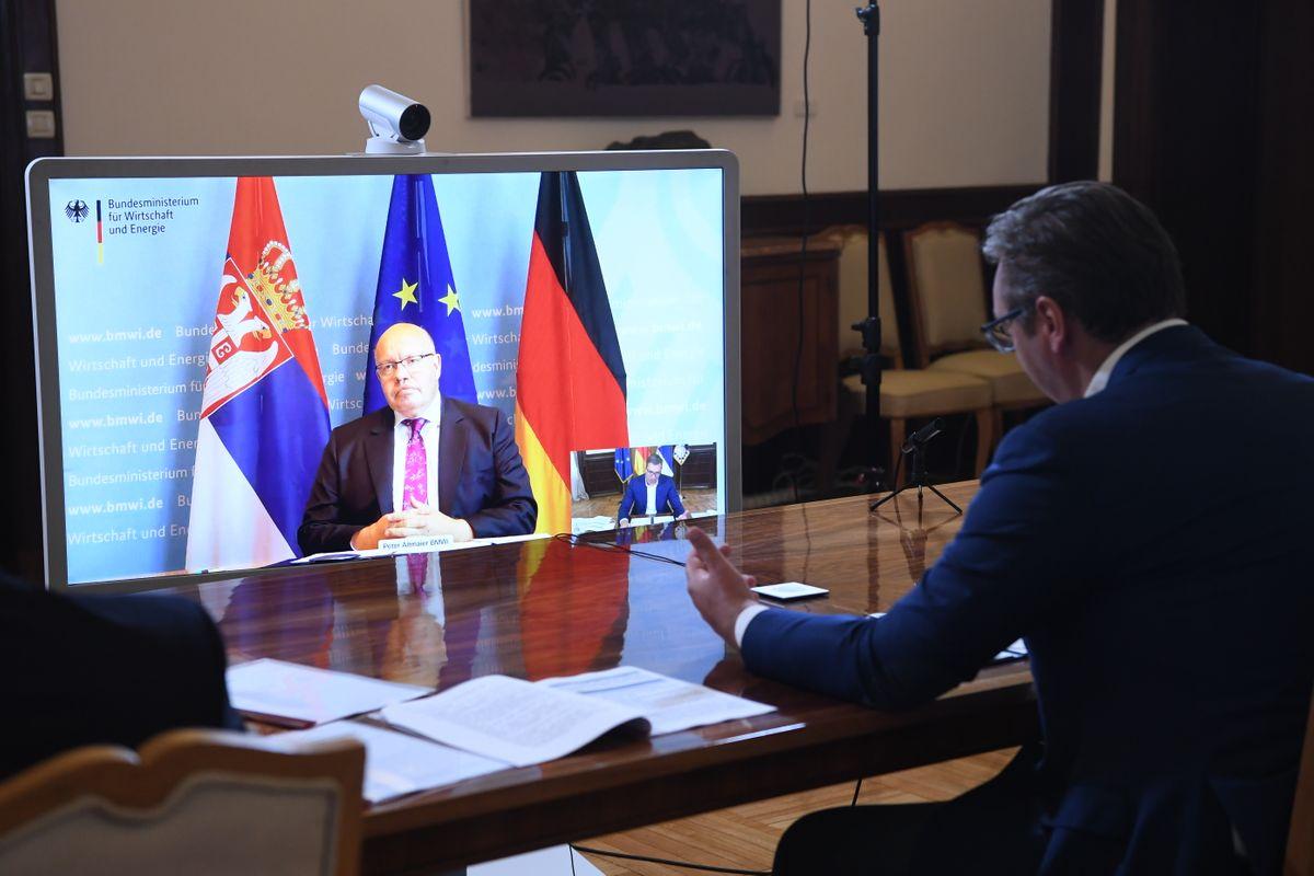 Видео – конференција са савезним министром за привреду и енергетику Савезне Републике Немачке