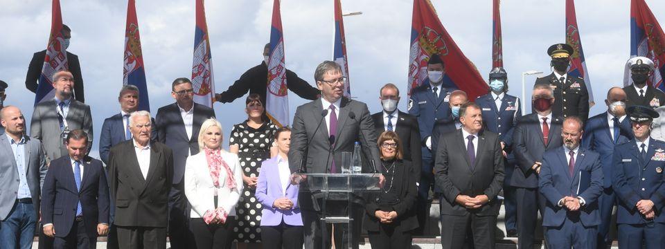 """Predsednik Vučić prisustvovao obeležavanju godišnjice operacije """"Halijard"""""""