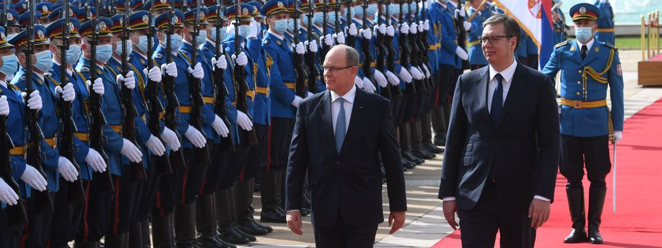 Prince Albert II of Monaco on official visit to the Republic of Serbia