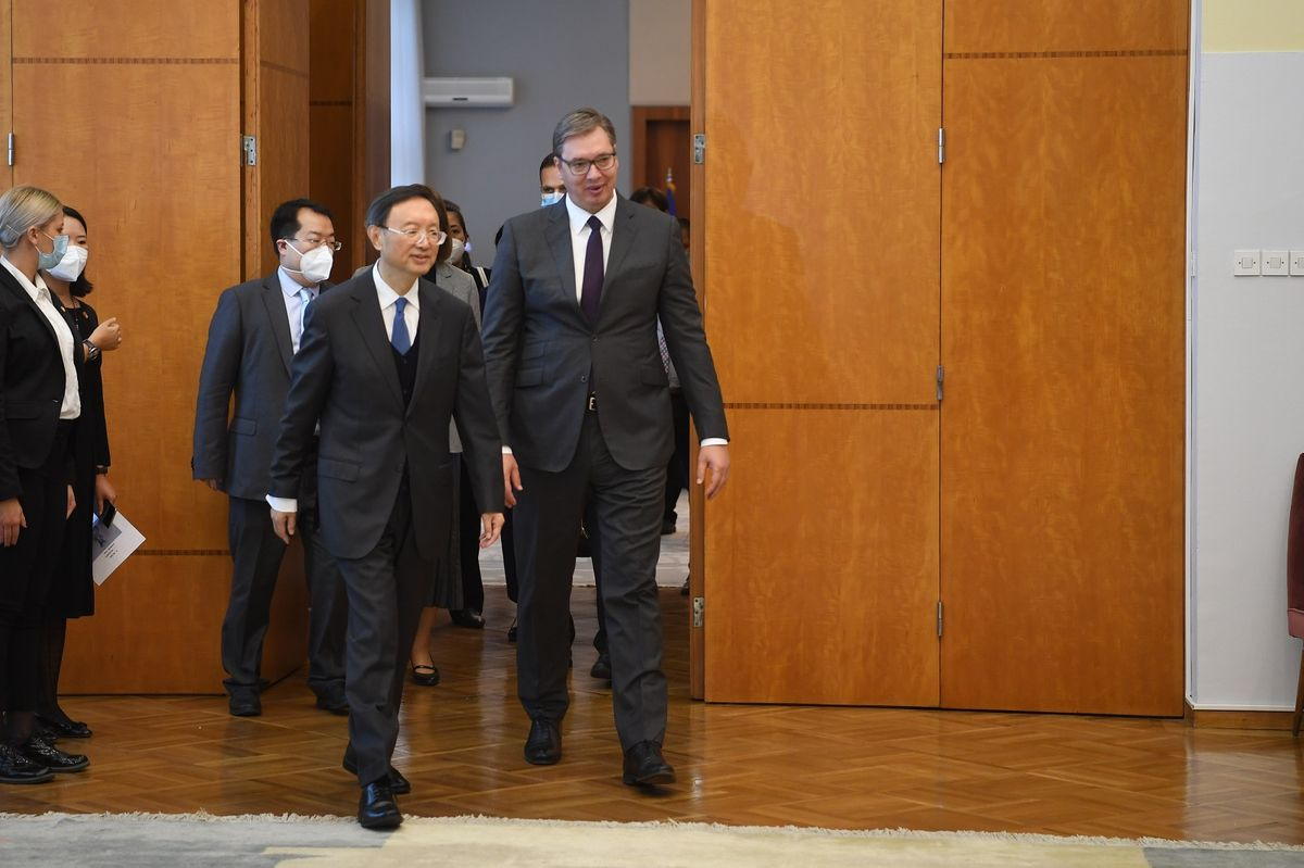 Састанак са чланом Политбироа Централног комитета КП Кине и директором Канцеларије Централне комисије за спољне послове