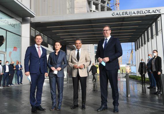 Predsednik Vučić prisustvovao otvaranju objekta Galerija Belgrade u okviru projekta Beograd na vodi