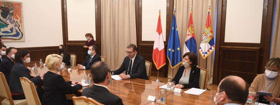 Sastanak sa predsednicom Nacionalnog veća Švajcarske Konfederacije
