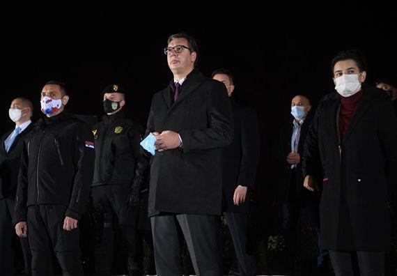"""Predsednik Vučić prisustvovao antiterorističkoj taktičko-pokaznoj vežbi """"Obruč 2020"""""""