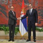 Predsednik Vučić primio akreditivna pisma novoimenovanog ambasadora Švajcarske Konfederacije