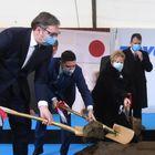 """Председник Вучић присуствовао полагању камена темељца за изградњу фабрике гума""""Toyo Tire"""""""