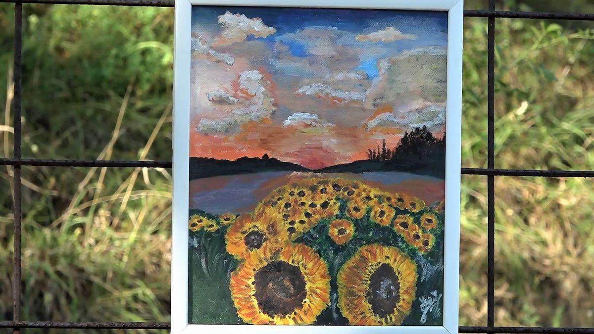 Прва изложба младе сликарке из Прибоја