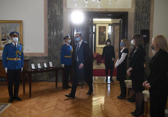 Уручене златне медаље за заслуге поводом Дана примирја и постхумно Сретењски орден трећег степена Добрици Ерићу
