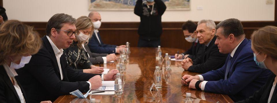 Sastanak sa predsednikom Komiteta za Međunarodne poslove Državne Dume Federalne Skupštine Ruske Federacije