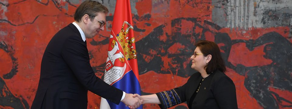 Председник Вучић примио је акредитивна писма новоименоване амбасадорке Румуније