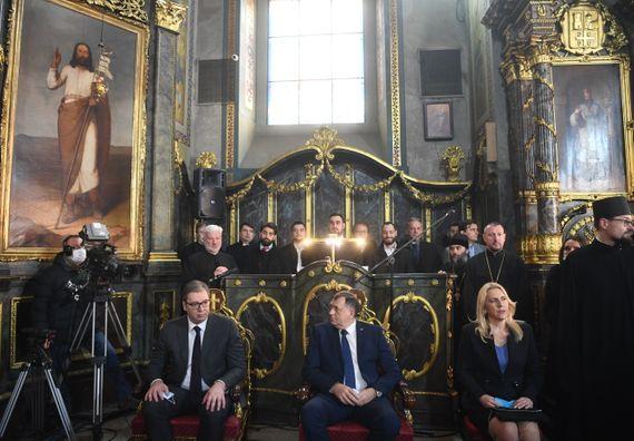 Predsednik Vučić prisustvovao ustoličenju novoizabranog patrijarha SPC