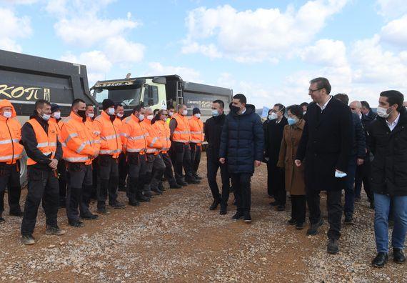 Obilazak radova na izgradnji brze saobraćajnice Iverak – Lajkovac