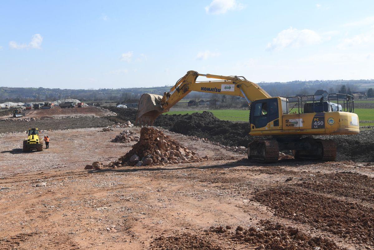 Обилазак радова на изградњи брзе саобраћајнице Иверак – Лајковац