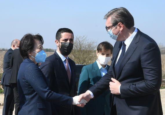 Председник Вучић присуствовао почетку радова на путу Нови Београд-Сурчин