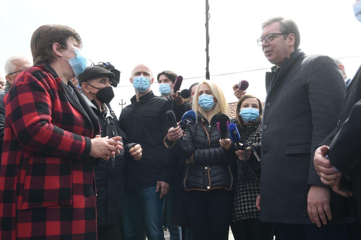 Председник Вучић посетио село Рудна Глава