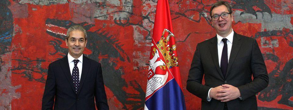 Акредитивна писма новоименованог амбасадора Републике Турске